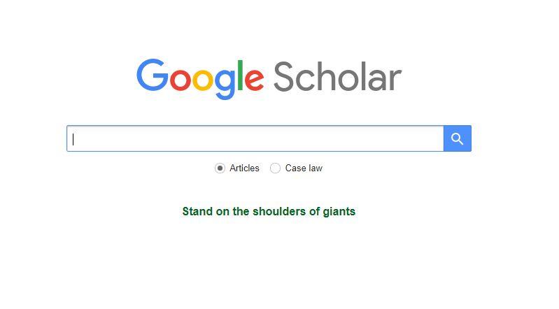 محرك بحث جوجل Google Scholar
